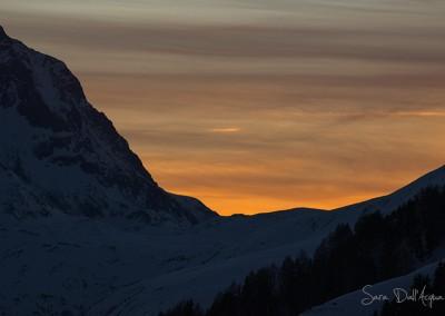 Coucher de soleil Alpes