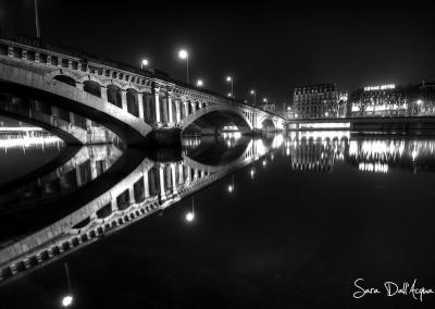 Pont sur Rhône N&B